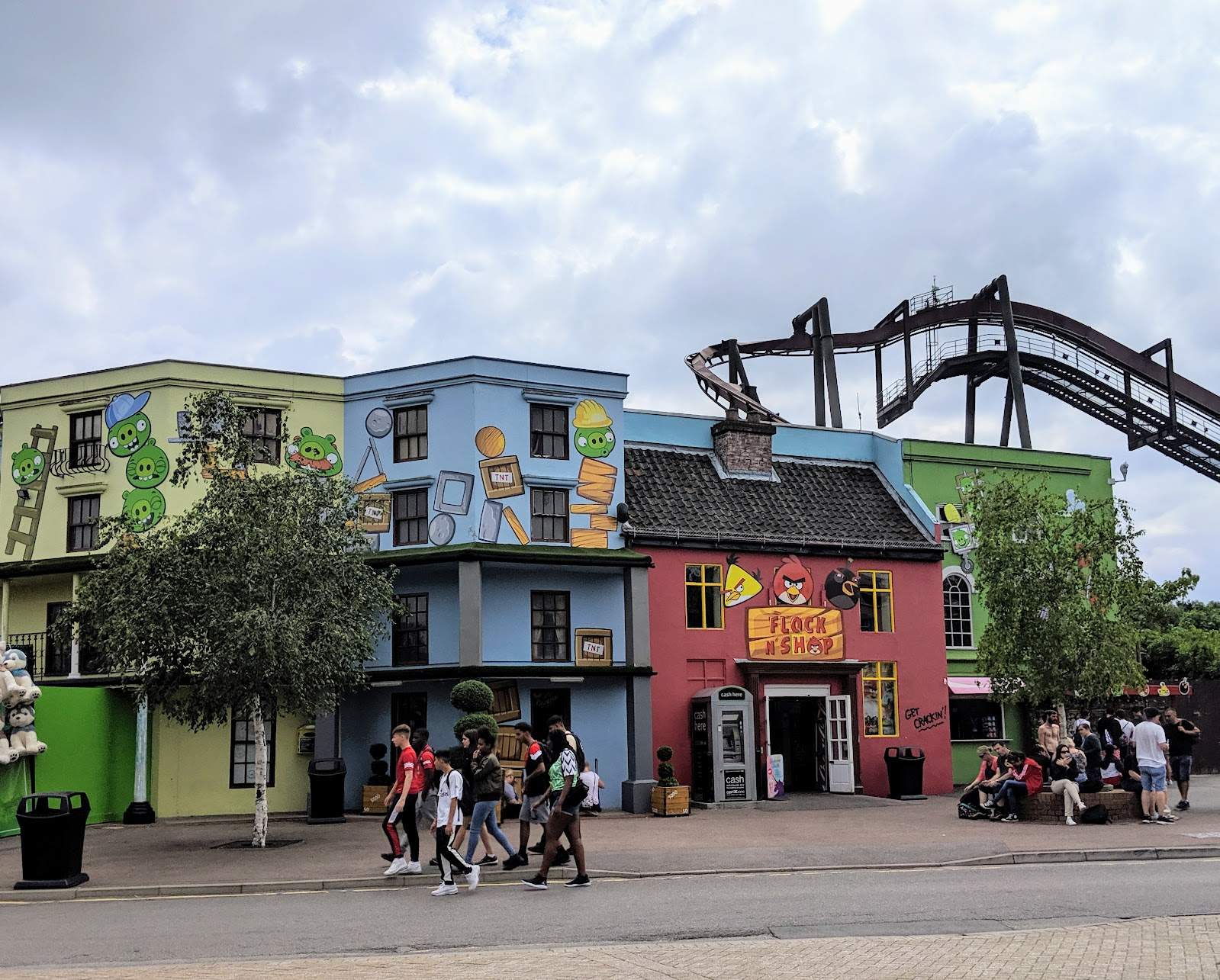 Exploring the Southern Merlin Theme Parks with Tweens  - Angry Bird Land at Thorpe Park