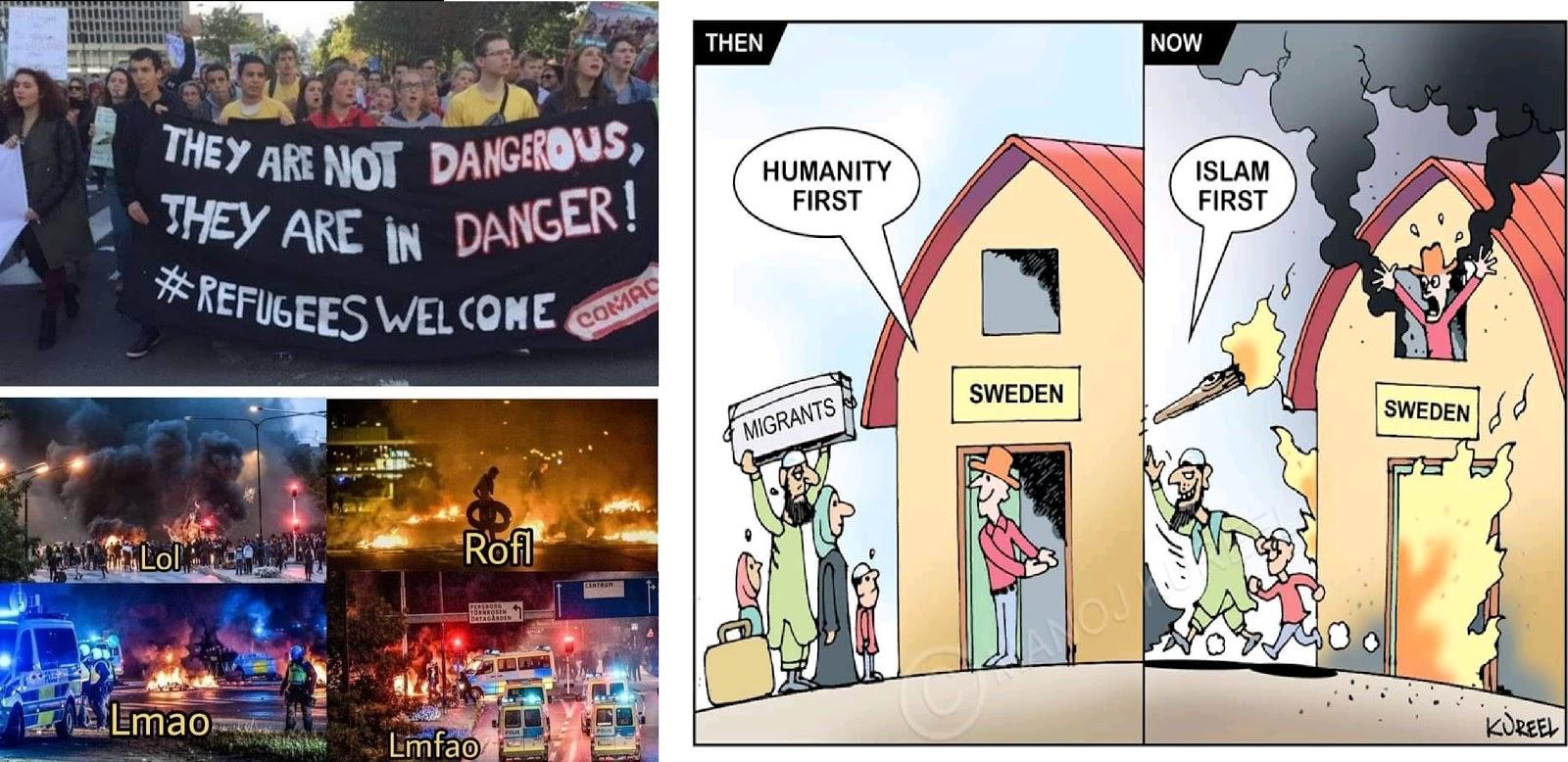 తగలబడుతున్న స్వీడన్ దేశం, శాంతి కామకుల చేతిలో సర్వం కోల్పోతున్న స్వీడన్ దేశస్థులు - Sweden Burning , Swedes losing everything at the hands of peace activists