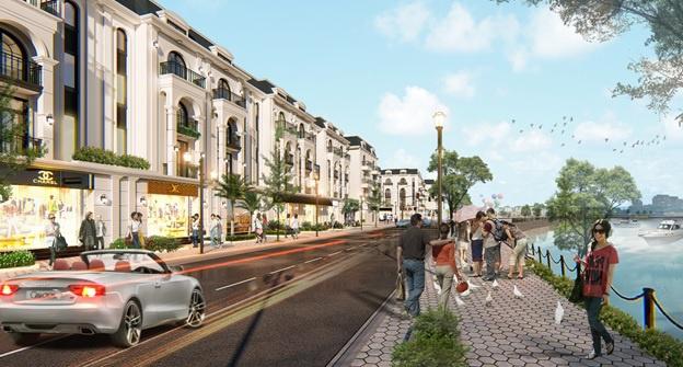 Phối cảnh liền kề shophouse Royal Riverside City Móng Cái