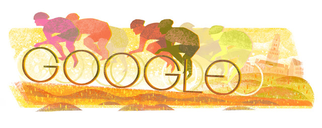 Start of the 100th tour of Flanders - Google Doodle