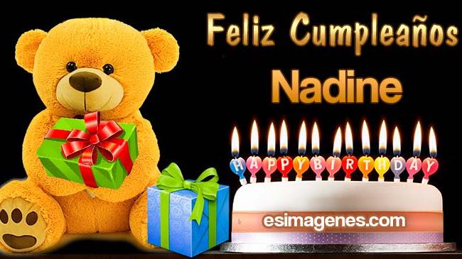 Feliz cumpleaños Nadine
