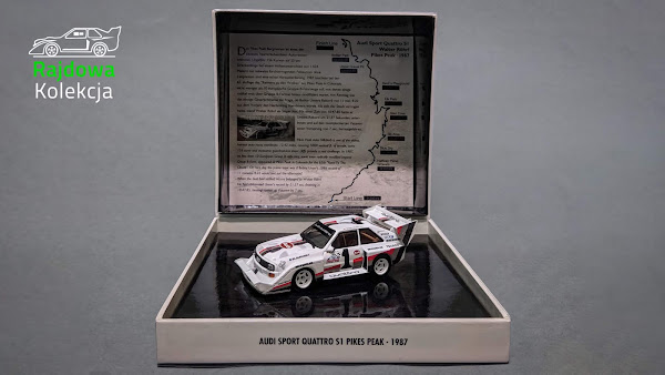 Minichamps Audi Sport Quattro S1 Pikes Peak, Winner Pikes Peak International Hill Climb 1987, 626 of 6 687