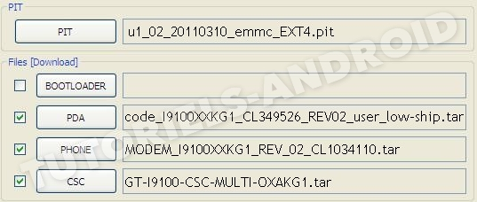 ROM 4 fichiers ODIN