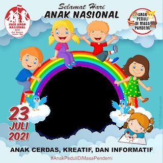 Twibbon Hari Anak Nasional 2021 PNG