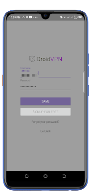 DroidVPN Premium Settings for Free Unlimited Internet