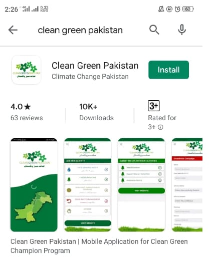 Clean Green Pakistan App