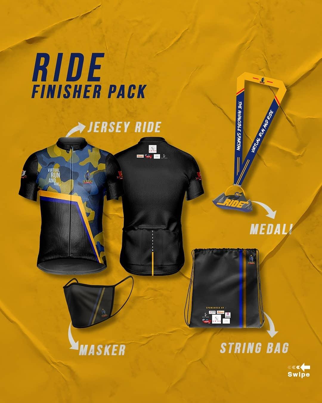 Ride Racepack 👕 Spartan X - Charity Virtual Run & Ride • 2021