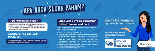 Informasi Restrukturisasi Kredit / Relaksasi Kredit di FIFGROUP