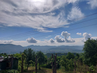 A procession of clouds across the valley
