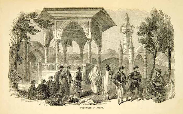 1858. Jaffa, Israel - Wood Engraving