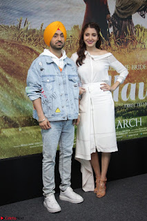 Anushka Sharma with Diljit Dosanjh at Press Meet For Their Movie Phillauri 003.JPG