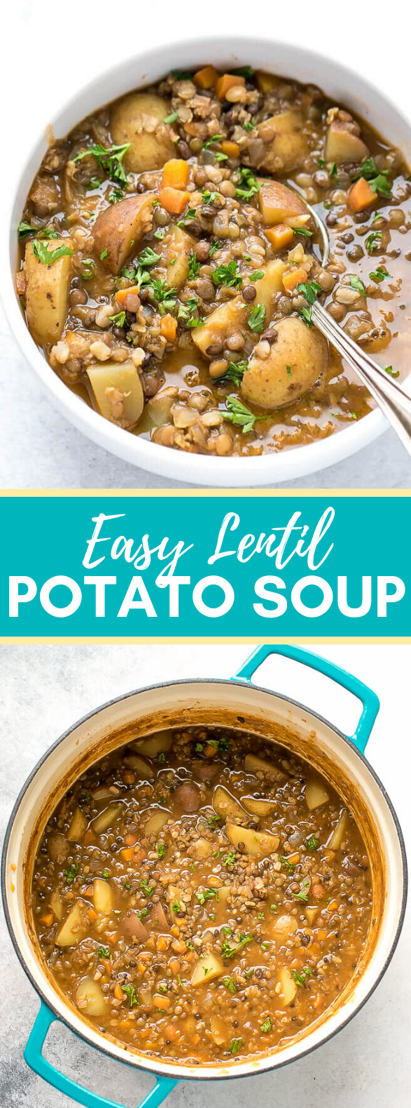 EASY LENTIL POTATO SOUP RECIPE #dinner #comfortmeal