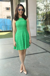 Actress Tamanna Pictures in Green Lace Dress during Oopiri Song Release at Radio City  0015.jpg