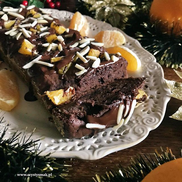 Proste ciasto z kakao i pomarańczami