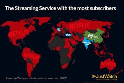 Dominasi Netflix di Peta (Grafik Data) Saat ini Tidak Tersedia di China