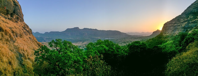 Ghangad fort view sunrise