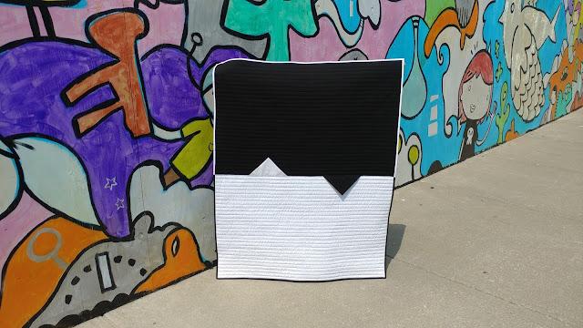 Modern B&W quilt