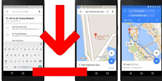 Google maps offline.