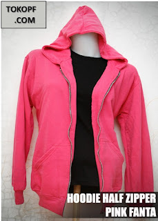 Jaket Polos Warna Pink Fanta