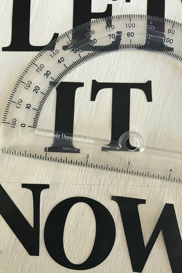 Spacing Letters For A Sign with a ruler