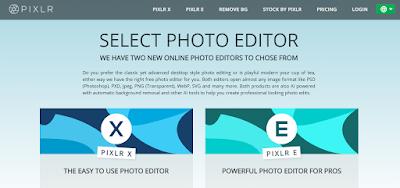 برنامج Pixlr Editor