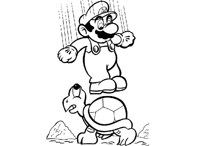 mario brothers sunshine coloring pages - photo#15