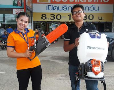 Husqvarna Petrol Lawn Mower | Chain Saw Buriram Thailand delivery