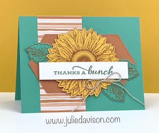 Stampin' Up! Celebrate Sunflowers: Thanks a Bunch Card ~ 2020-2021 Annual Catalog ~ www.juliedavison.com #stampinup
