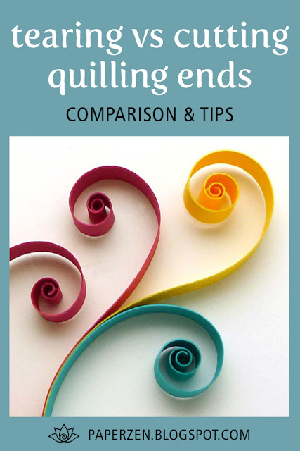 quilling tearing vs cutting strip ends