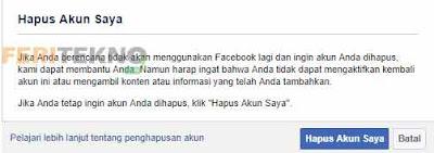 cara menghapus akun facebook secara permanen