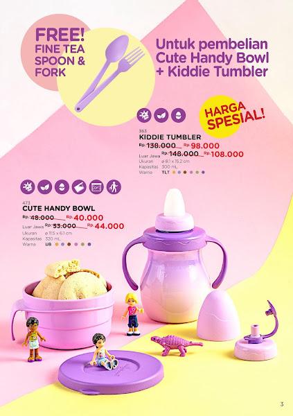 Promo Diskon, Kiddie Tumbler, Cute Handy Bowl Tulipware Oktober 2019