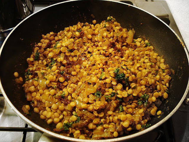 Spicy Lentils with Roasted Butternut Squash