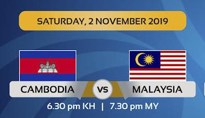 Live Streaming Cambodia vs Malaysia (2.11.2019) AFC U19 Qualifiers 2020