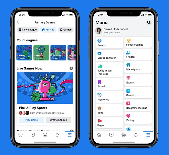 يضيف Facebook عنصرًا جديدًا لألعاب الخيال للاستفادة من الشعبية المتزايدة لرياضات الخيال