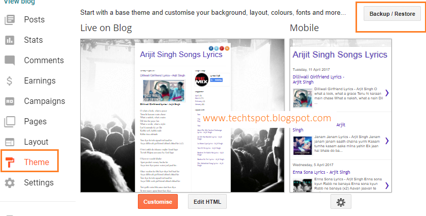 How To Upload Custom Theme In Blogger With Pictures