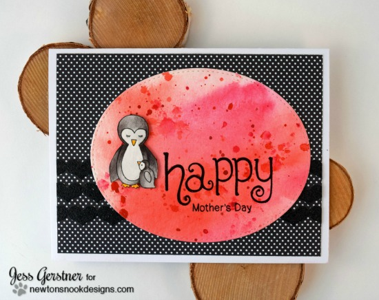 Happy Mother's Day Penguin Card by Jess Gerstner | Wild Child and Simply Seasonal Stamp sets by Newton's Nook Designs #newtonsnook
