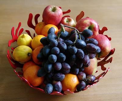 Basket of fruit, public domain image