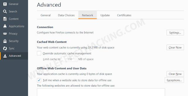 Mozilla Advanced