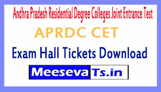 APRDC CET Exam Hall Tickets Download