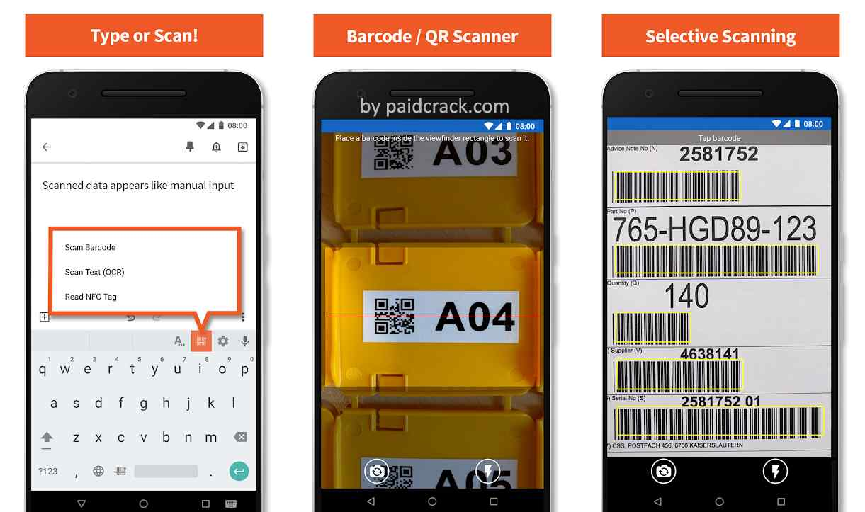 Barcode/NFC/OCR Scanner Keyboard Premium Mod Apk 3.4.3 (Legacy Version)