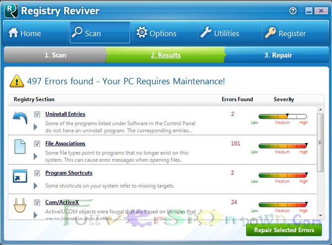 ReviverSoft Registry Reviver Full Crack