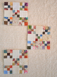 Omigosh nine patch blocks: QuiltBee