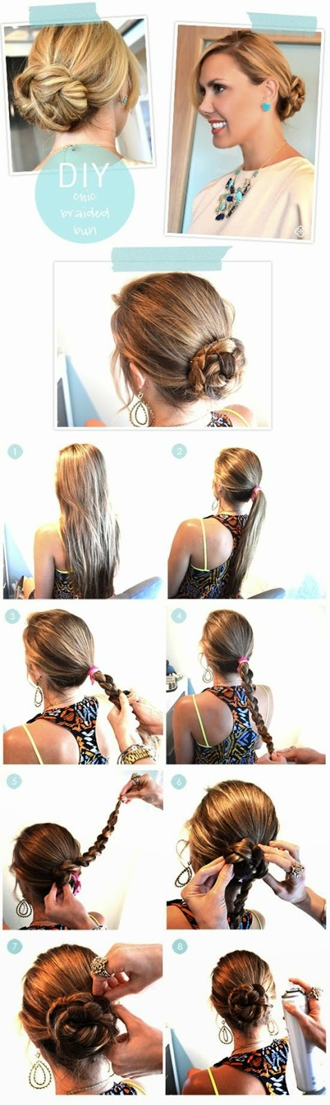 Chic Braided Bun hair tutorial