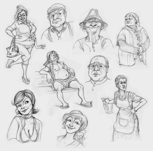 Character Design - Caricatures - Ranczo 2