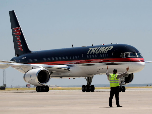 Donald Trump private jet is actually a boeing 757
