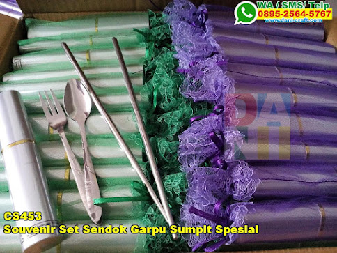 Souvenir Set Sendok Garpu Sumpit Spesial
