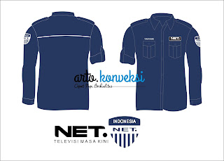 Kemeja Net TV Custom
