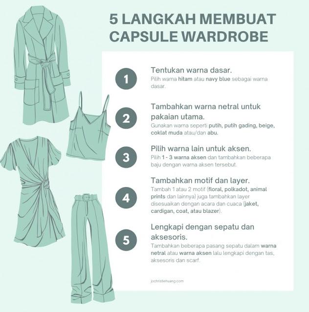 5 langkah memulai capsule wardrobe