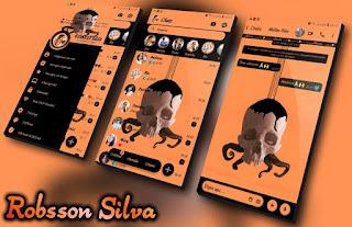 Rc Skull Orange Theme For YOWhatsApp & Fouad WhatsApp By NANDA
