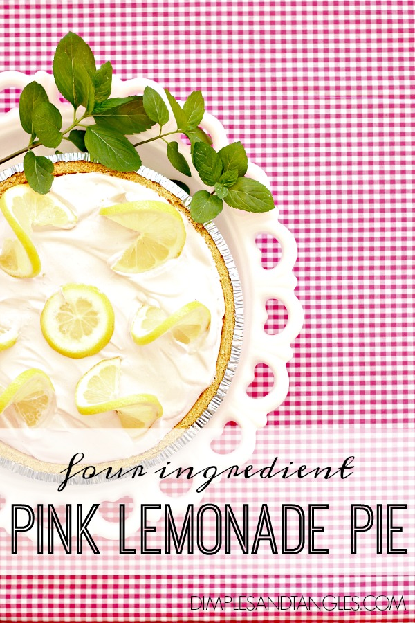 Spring Dessert, easy dessert, icebox pie recipe, no bake dessert recipe, pink lemonade pie